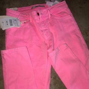 Zara Neon Pink Skinny Jeans New Size US 4/EUR 36